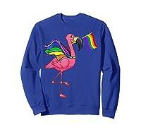Flamingo Lgbt Pride Month T-shirt Sweatshirt Royal Blue