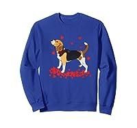 I Love My Beagle T Shirt Valentine Gift For Beagle Sweatshirt Royal Blue