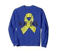 Inspirational Beat Dipg T-shirt - Dipg Awareness Sweatshirt Royal Blue