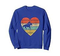 Roping Vintage Design Retro Horse Calf Roper Heart Sport Fan Tank Top Shirts Sweatshirt Royal Blue