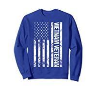 American Flag Vietnam Veteran T-shirt Sweatshirt Royal Blue