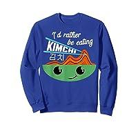 Kimchi Cute Korean Ferted Food Shirts Sweatshirt Royal Blue