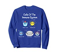Immune System Cells Biology Cell Science Humor Immunologist Shirts Sweatshirt Royal Blue