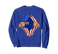 New Zealand Blood Inside Me T-shirt   New Zealand Flag Gift Sweatshirt Royal Blue