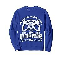 Tow Truck Operator Shirts Sweatshirt Royal Blue