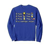 Si Hay Playa Hay Alcohol - Callaita Trap Bunny Emoji T-shirt T-shirt Sweatshirt Royal Blue