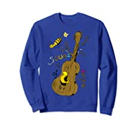 The Sound Of Guitar Tree Nature Shirts Sweatshirt Royal Blue