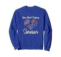 Survived Open Heart Surgery Heart Attack Survivor Shirts Sweatshirt Royal Blue