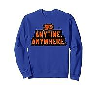 Anytime Anywhere Flyers Shirts Sweatshirt Royal Blue