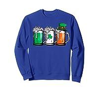 Irish Beer Ireland Flag St Patricks Day Leprechaun Shirts Sweatshirt Royal Blue