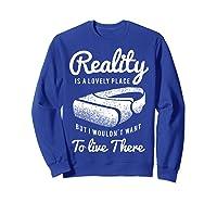 Virtual Reality Hmd Interactive Game Vr Headset Shirts Sweatshirt Royal Blue