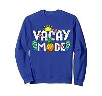 Family Vacation Holidays Vacay Mode Summer Travel Gift T-shirt Sweatshirt Royal Blue