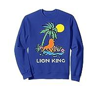The Lion King Simba Spring Palm Tree Shirts Sweatshirt Royal Blue
