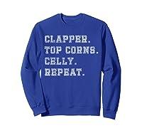 Clapper Top Corns Celly Repeat T Shirt Hockey Tee Sweatshirt Royal Blue