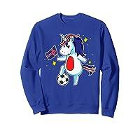 Soccer Unicorn Iceland Design Iceland Football Gift Shirts Sweatshirt Royal Blue