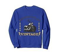 Vintage Motorcycle Bike Rocker Bike Club T-shirt Sweatshirt Royal Blue