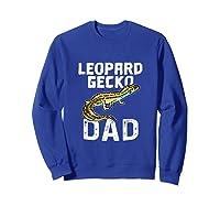 Funny Leopard Gecko Graphic Lizard Lover Reptile Dad Gift T-shirt Sweatshirt Royal Blue