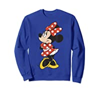 Mickey And Friends Minnie Mouse Traditional Portrait Shirts Sweatshirt Royal Blue