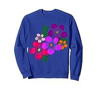 Blooming Flower, Blooms, Blossoms, Garden, Bunch Of Flowers T-shirt Sweatshirt Royal Blue