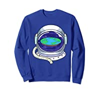 Flat Earth Map Design For A Flat Earth Society Shirts Sweatshirt Royal Blue