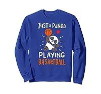 Basketball Panda Premium T-shirt Sweatshirt Royal Blue