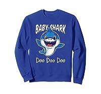Baby Shark Doo Doo Birthday Party Gifts Girl Boy Out T-shirt Sweatshirt Royal Blue