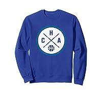 Classic Charlotte Basketball Cha Outline T-shirt Sweatshirt Royal Blue