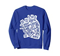 Anatomical Heart Cardiac Nurse Parts Of Heart Shirts Sweatshirt Royal Blue