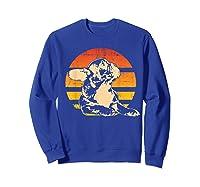 Retro French Bulldog T-shirt Gift Sweatshirt Royal Blue
