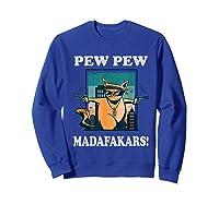 Cat Madafakas Vintage Crazy Cat Funny Graphic Shirts Sweatshirt Royal Blue