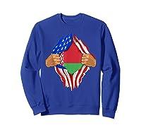 Belarusian Blood Inside Me Belarus Flag Gift Shirts Sweatshirt Royal Blue