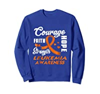 Leukemia Awareness Warrior Wear Orange Hope Gifts Shirts Sweatshirt Royal Blue