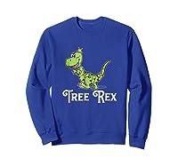 Tree Rex Funny Dino Christmas Lights Shirts Sweatshirt Royal Blue