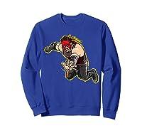 Kane Clothesline Graphic Shirts Sweatshirt Royal Blue