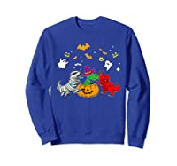 Funny Saurus Halloween Costumes Saurus Lovers Shirts Sweatshirt Royal Blue