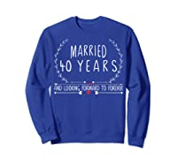 Wedding Anniversary 40th Gifts For Her Him Couples Shirts Sweatshirt Royal Blue