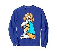 Beagle I Love Mom Apparel, Dog Mom Gifts Shirts Sweatshirt Royal Blue