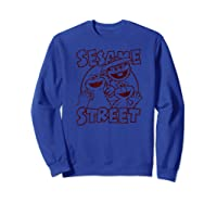 Sesame Street Crunch Characters T Shirt Sweatshirt Royal Blue