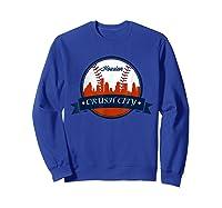 Vintage Retro Houston City Skyline Baseball Tshirt Sweatshirt Royal Blue