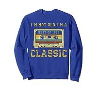 Vintage Cassette I'm Not Old I'm A Classic 1959 60th Shirts Sweatshirt Royal Blue