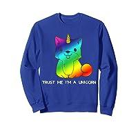 Unicorn Halloween Costume Puppy Girl Girls T-shirt Sweatshirt Royal Blue