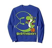 Super Mario Yoshi 3rd Birthday Action Portrait T-shirt Sweatshirt Royal Blue