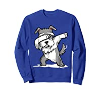 Schnauzer Cute Dabbing Funny Dab Dance Gif Shirts Sweatshirt Royal Blue