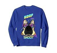 Vaporwave 80's Style Pet Dog Boop That Snoot German Shepherd Shirts Sweatshirt Royal Blue