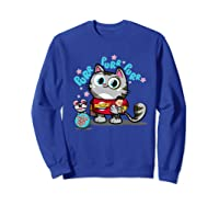 The Big Bang Theory Purr Purr Purr Shirts Sweatshirt Royal Blue