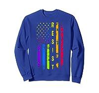 Pride Lgbt Colorful Flag Rainbow Shirts Sweatshirt Royal Blue