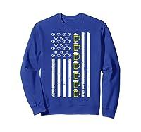 Funny Oktoberfes American Flag Beer Pretzel Shirts Sweatshirt Royal Blue