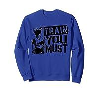 Star Wars Yoda Train You Must Active Graphic T-shirt Sweatshirt Royal Blue