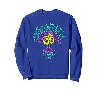 Tree Of Life Shanti Patha Om Yoga Prayer Shirts Sweatshirt Royal Blue