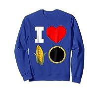 Cornhole Shirts For And . I Love Cornhole Tee Sweatshirt Royal Blue